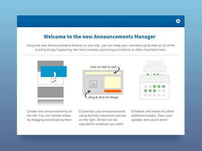 Announcements Onboarding