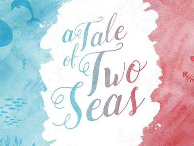 Tale of Two Seas Branding graphic design typography branding sermon