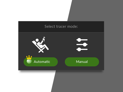 Auto Tracer Selection premium interaction modal popup ux ui mobile