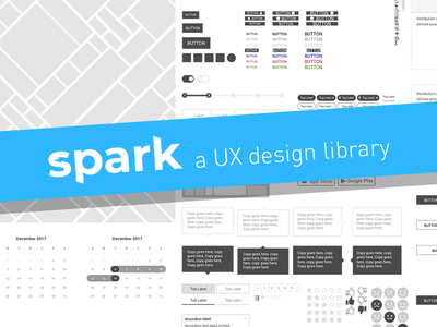 Spark, A free Sketch Library for UX Designers wireframing wireframe kit product design ux