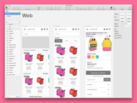 E-commerce mobile wireframe in sketch