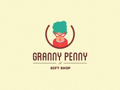 Granny Penny logo logotypy gram grandmother gift shop