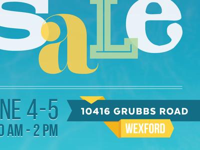 Garage Sale Facebook Graphic