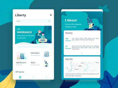 Insurance insurance illustrations liberty car user interface ui design queble solutions darren app ui