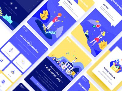 Offers Temple branding website web pose illustrations offers temple ux ui ui design darren app ui landing page