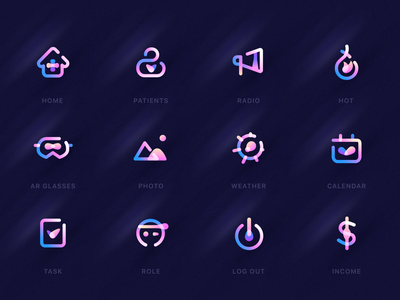 App icon gradient ui,ux darren hiwow illustrations sketch brandding logo icon