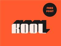 Kool free font music groove rhythm funk typography