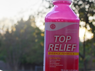 Pepto Dribbble debut photo edit thanks