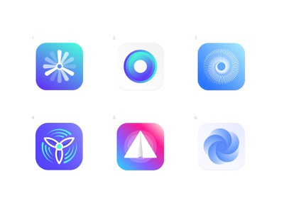 Movement - App icons finance financial circle logo paperplane colorful logo eye mark blue and white propeller rotate movement plane airplane logo medical app technology icons app icon icon graphic design minimalistic identity mark branding logo