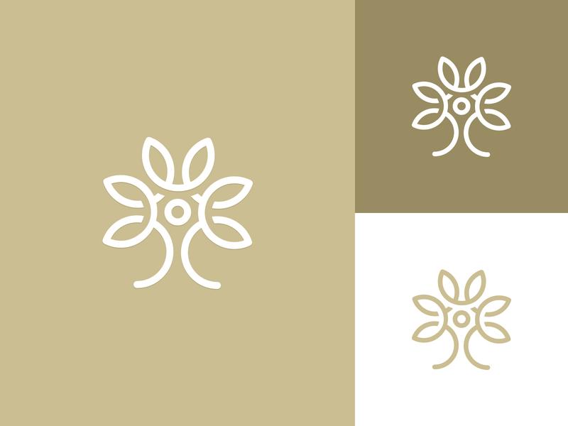 Lafamille Logo Mark elegant modern abstract symbol leaves simple app icon flower logo family tree tree plant nature line art logo organic vintage graphic design clean minimalistic identity mark branding logo