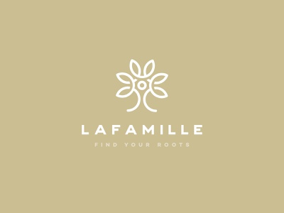 Lafamille Logo Design modern abstract farm leaves nature plant family tree lineart clean minimal vintage organic icon graphic design identity mark branding logo