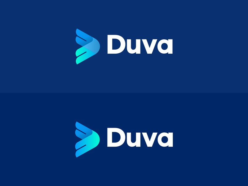 Duva Logo Design - Top or Bottom? organic movement eagle logo colorful vibrant logo animal logo bird logo transparency development developement tecnology creative smart logo gradient logo modern abstract minimal wings logo icon graphic design minimalistic identity mark branding logo