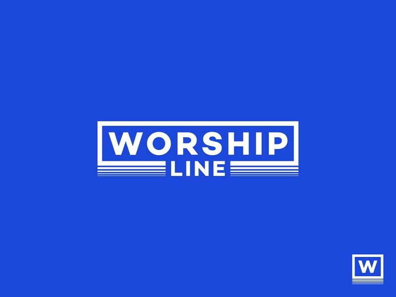 Worship Line - Logo Design hipster vintage teen motion flow blue and white w logo monogram logo geometric logo clean app modern abstract logo bold logo lineart fashion brand clothing brand apparel logo minimal graphic design minimalistic identity mark branding logo
