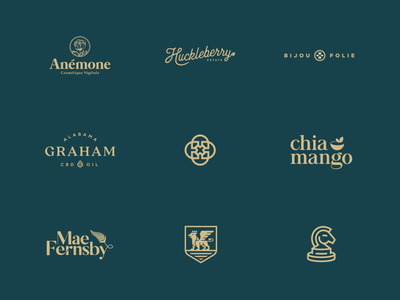 Selected Logos and Marks 2018/19 monogram finance health production cbd oil animal logo feminine logo organic vegan fashion cosmetic jewelry elegant simple clean logos wordmark logo collection clean minimal vintage organic graphic design minimalistic identity mark branding logo