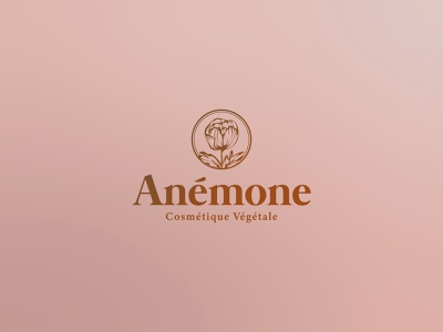 Anemone Natural Cosmetics - Logo Design beauty product make up tulip women empowerment feminine floral design pink bronze gradient natural products cosmetics fashion brand cosmetic logo nature vegan vegetarian flower mark organic vintage graphic design minimalistic identity branding logo