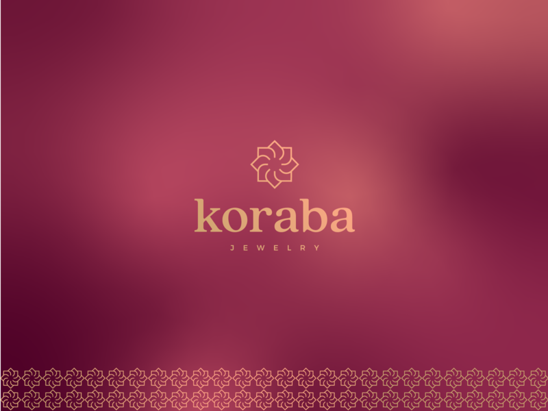 Koraba Jewelry - Logo Design skin care cosmetics icon unique logo sophisticated gradient pattern golden rotation flower geometric classic fashion elegant luxury jewellery jewelry minimal vintage graphic design identity mark branding logo