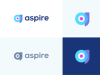 Aspire - Target - Logo Design modern logo logo mark symbol icon aspire technology studio communication development app icon colorful vibrant abstract center dart winning target point lettermark a logo minimal clean minimalistic identity mark branding logo