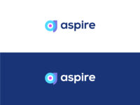 Aspire - Logo Design app logo finance technology consultation icon dot a letter abstract guide winners central targeting centre center target dart point minimal clean minimalistic identity mark branding logo