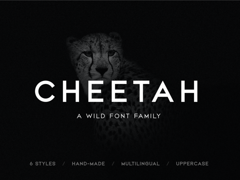 Cheetah - Sans Serif Font Family sans serif font all caps sale fonts geometric font minimal clean identity branding graphic design typography custom font font design font family