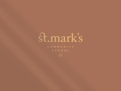 St. Mark's Logo Design logos logotype lettermark custom type classic logo fashion brand luxury logo elegant corporate identity business education school typogaphy custom lettering wordmark clean vintage minimalistic branding logo