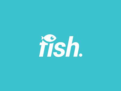 Fish. mark creative freelance illustration vector seafood smart blue fish graphic design logo design logo