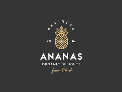 Balinese Ananas, Pineapple, Logo Design