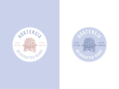 Hortensia - Logo Design for Organic Hydrangea Products
