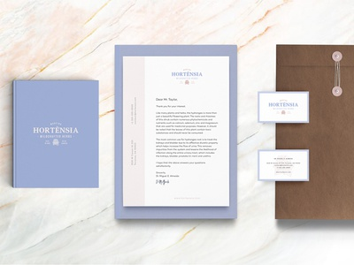 Hortensia - Brand Identity made for Organic Hydrangea Products