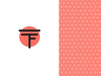 TF Minimalistic Logo and Pattern Design