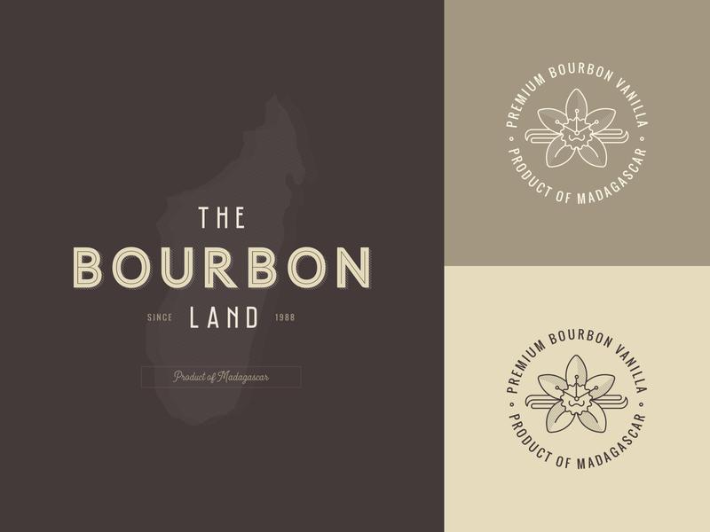 The Bourbon Land - Logo Design identity farm organic graphic design luxury brown bronze elegant clean minimal badge vintage retro logo branding