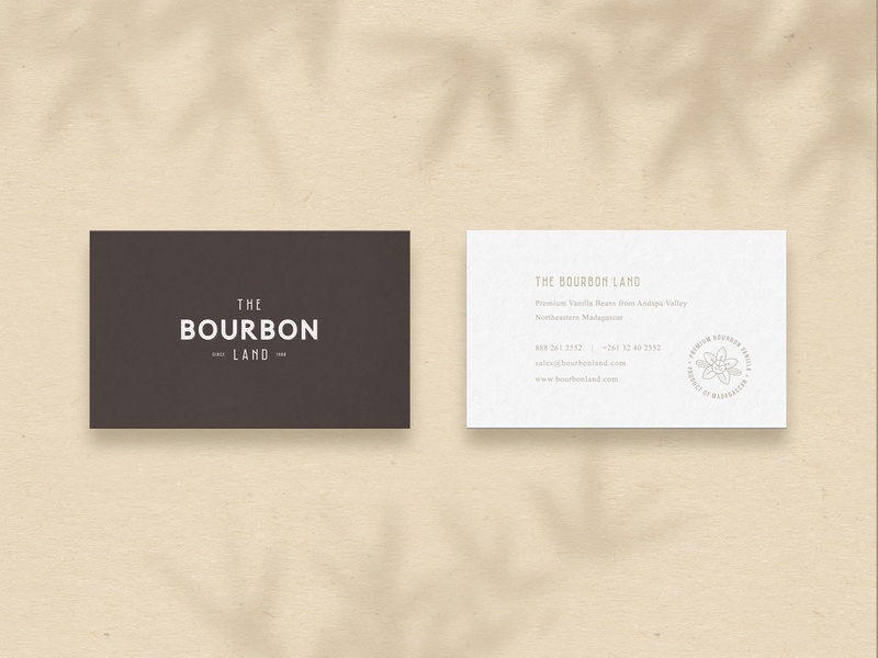 The Bourbon Land - Business Card business card product card corporate brand identity bio elegant brown bronze badge farm minimal clean vintage organic business and finance graphic design minimalistic identity mark logo branding
