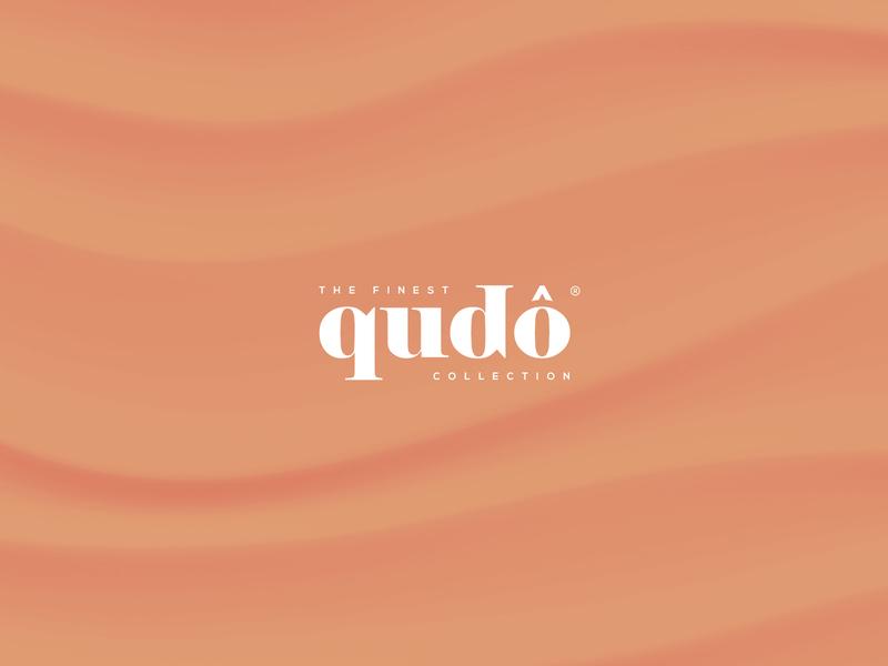 Qudo Collection logotype elegant health and fitness skincare fashion logo geometric design corporate classic orange clean wordmark logo custom typography jewelery cosmetics identity minimalistic branding logo