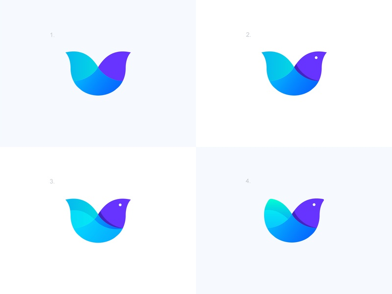 Logo Exploration - Bird Mark symbol pigeon dove gradient icon colorful logo smart logo modern logo animal logo birds bird logo flat design bird illustration clean bird icon minimal organic minimalistic identity mark logo