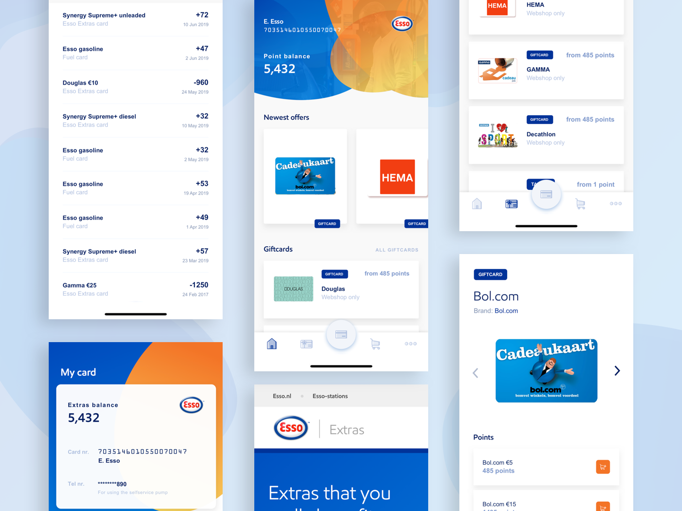 Fuel App Esso list product cards home app design app mobile ux ui