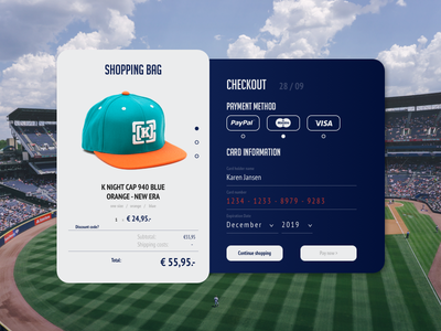 Creditcard Checkout - dribbble debut clean debut ui card card webshop form checkout sports ux ui