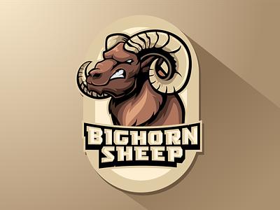 bighorn sheep animals cartoon branding gaming illustration art vector character mascotlogo got sheep horn bighorn sheep