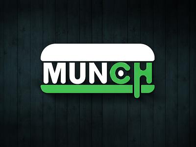 Munch Restaurant logo fastfood hotdog burger food truck logo logo design illustration vector junk food foods restaurant logo