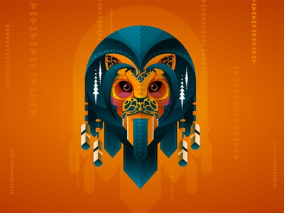 Leo Geo ornamental mummy egypt orange texture gradient flat papercut colorful detailart animal mascotlogo illustration vector geometry leo
