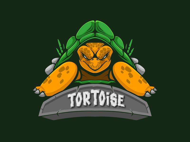 tortoise Mascot Logo turtle gaming vector design character mascot logo cartoon logo mascot illustration tortoise