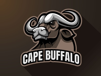 Cape buffalo Mascot logo branding mascotlogo vector team logo esports sports gaming cape character logo illustration design logo mascot animals bull ox cape buffalo
