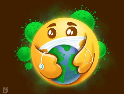Care emoji for saving the world from coronavirus save world pandemic mask doctor emojis care stayhome stay home covid19 character cartoon illustration coronavirus