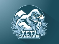 Yeti Cannabis Logo gorilla illustration blue snow cigar angry gaming sports character vector animals cartoon mascot logo cannabis