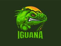 Iguana Mascot logo for 100 logo challenge design typography sports gaming character branding challange illustration crazy mascotlogo mascot animals green iguana logo