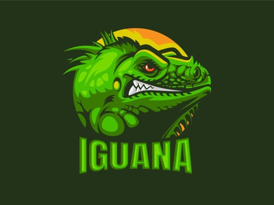 Iguana Mascot logo for 100 logo challenge design typography sports gaming character branding challange illustration crazy mascotlogo mascot animals green iguana logo