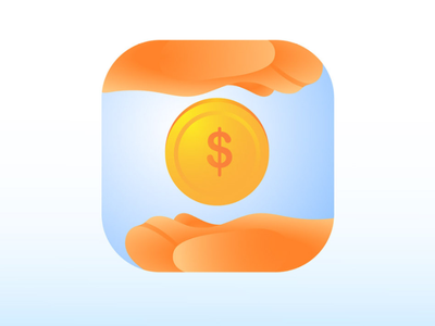 "Icon ""Reasonable cost "" financial app finance money illustration low cost saving cost branding icon"