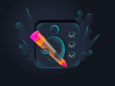 Artist Icon transparent icon branding illustrator concept drawing app drawing app pencil cristal creative artist logo gradient illustration icon
