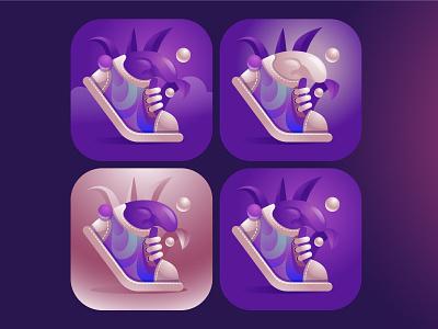 App Icon for footwear converse step gradient shoes ui illustration footwear design icon app app design footwear