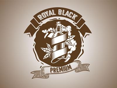 Royal Black Vintage Logo beer drinks beverage champagne marijuana symbol logo inspiration retro logo vintage