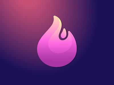 PINK FLAME GRADIENT LOGO logo design hot illustration symbol branding icon logo flame fire