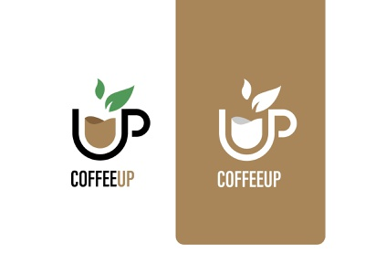 COFFEEUP LOGO tea up cup branding minimal logo coffee